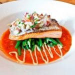 Roast Fillet of Salmon with Green Beans